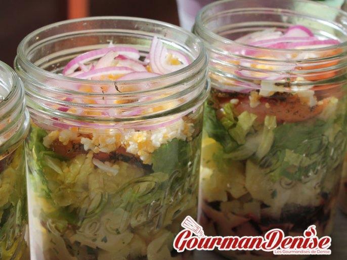 salade jar saumon