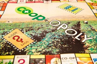 """image of """"Coop-opoly"""" board"""
