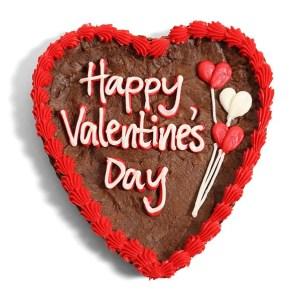 Valentine's Day Brownie Cake