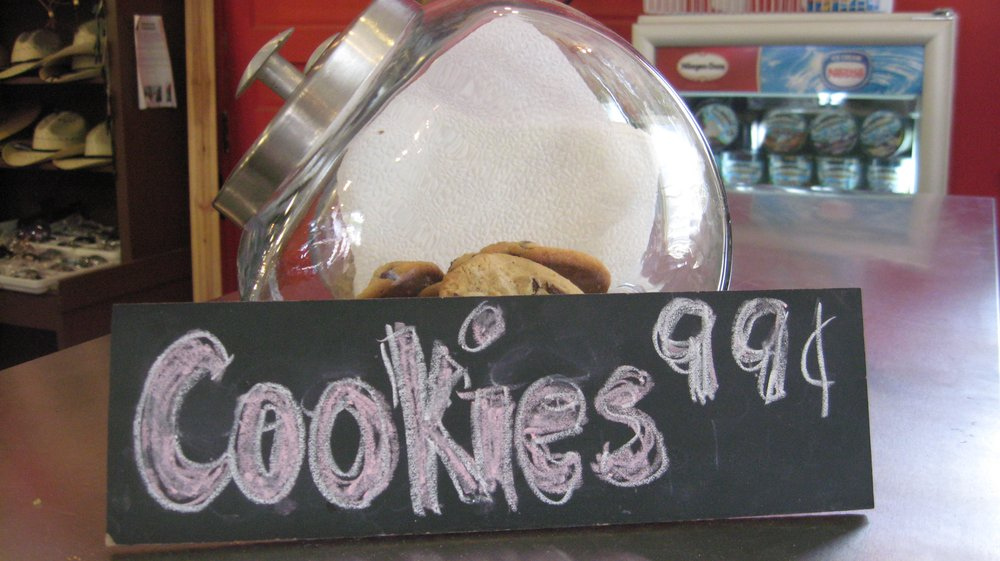 Pretty much the main reason we stopped at the market - I have a weakness for cookies