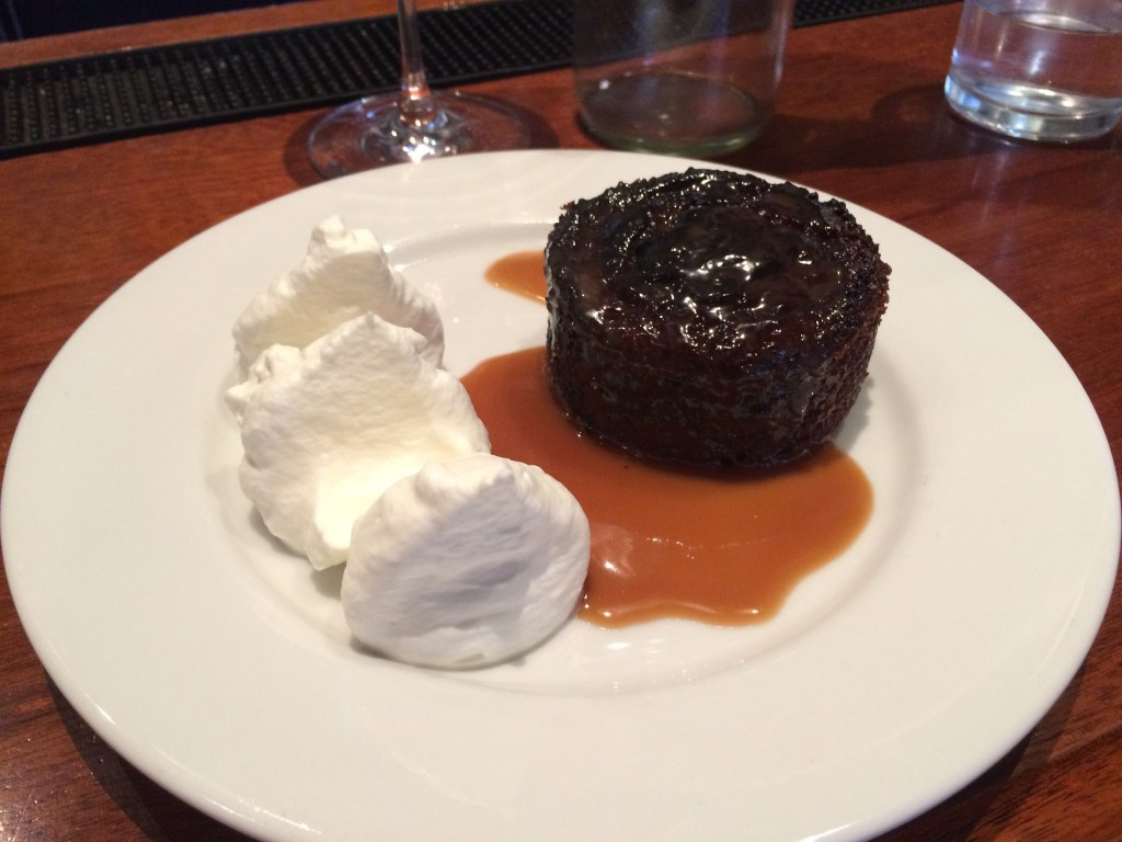 The date pudding with caramelized rum sauce