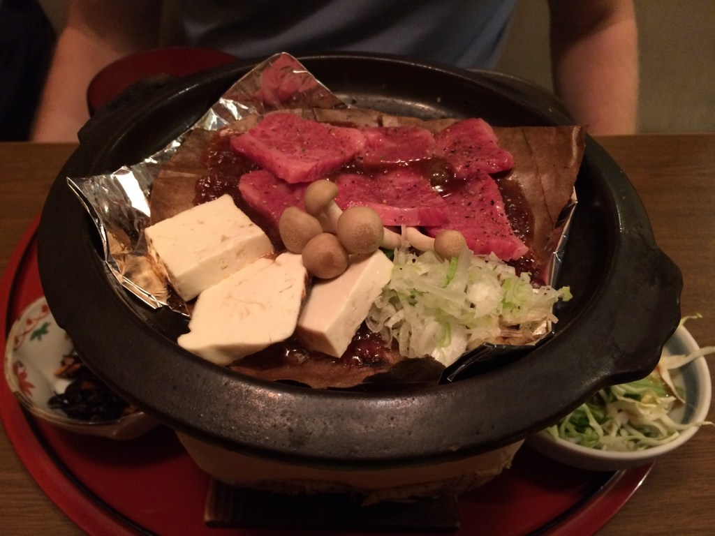 Grilled beef is big in Takayama - particularly Hida beef (just as delicious as Kobe but not as known)