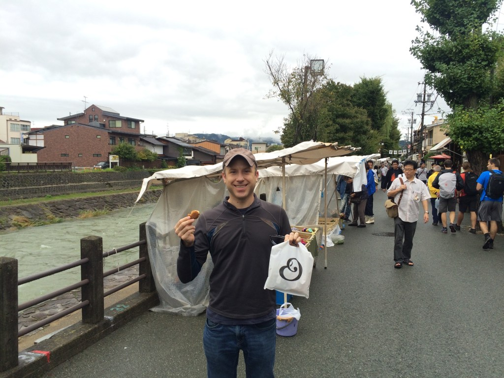 Morning market in Takayama - great shopping!