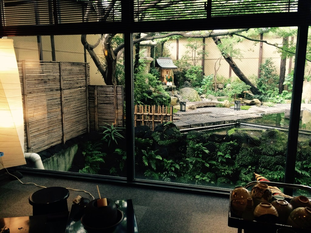 Lobby of the Ryokan in Kyoto - first night.