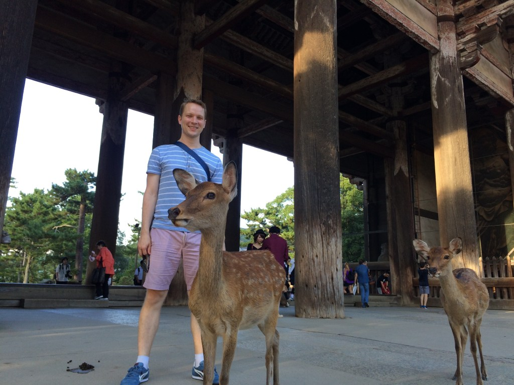 A deer poses with Kevin
