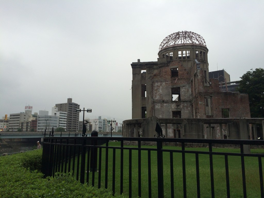 A reminder of the atomic bombing of Hiroshima - the only building preserved after the blast.
