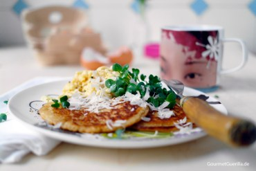 Parmesan Pancakes #rezept #gourmetguerilla