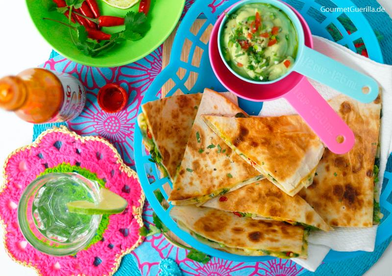 Schnelle Quesadillas Mit Guacamole nach Jamie #rezept #gourmetguerilla