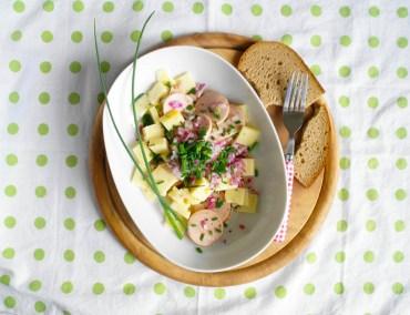 Schweizer-Wurstsalat-mit-Carvelat-und-Bergkaese #rezept #gourmetguerilla