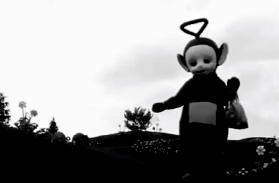 VIDEO: Christopher G. Brown's 'Teletubbies' edit in black & white, set to Joy Division, makes for haunting mashup