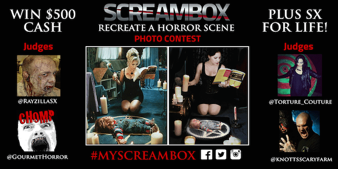 Screambox 'Recreate a Horror Scene' contest