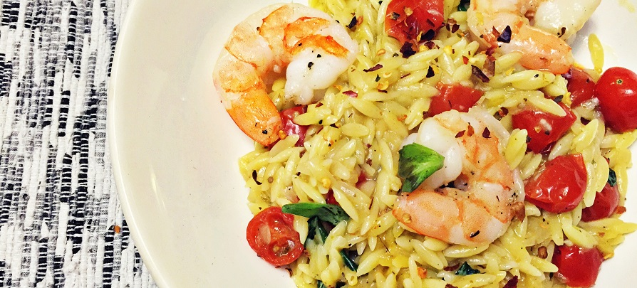 One-Pot Shrimp and Tomato Orzo