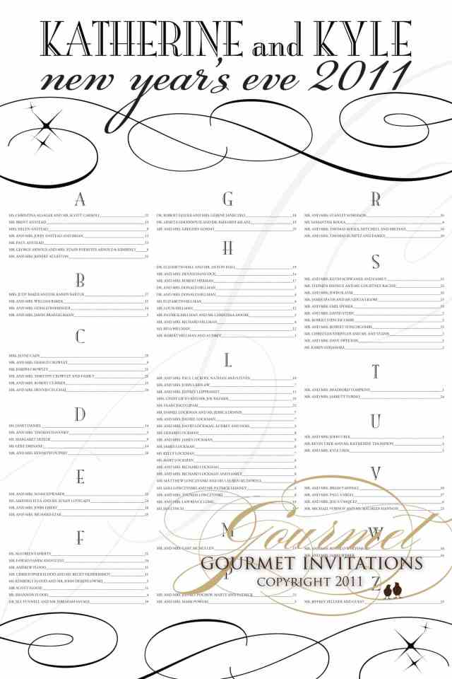 seating chart, wedding seating plans, seating poster, alternative to placecards, new years eve wedding seating