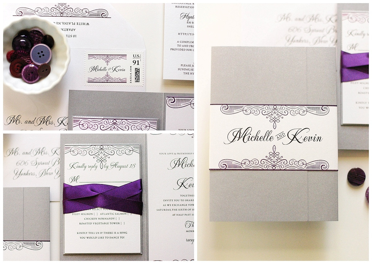 ... Purple And Silver Wedding Invitations Gourmet Invitations_0003 ...