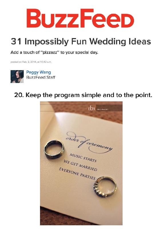 simple wedding program