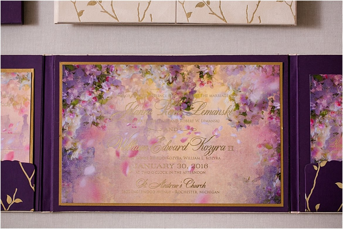 enchanted forest invitations with gold foil