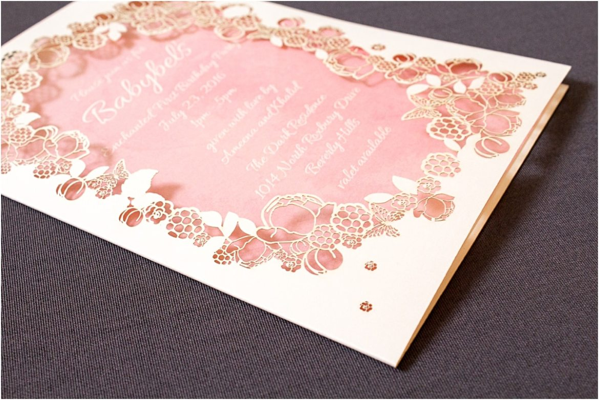 laser cut flower invitation