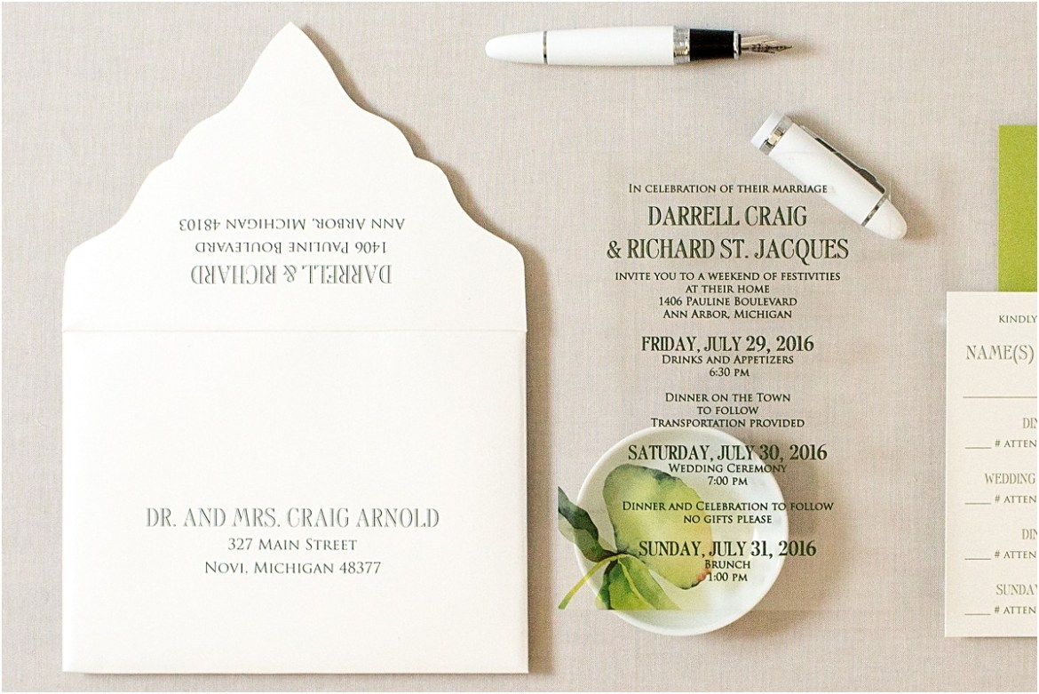 green orchid invitation