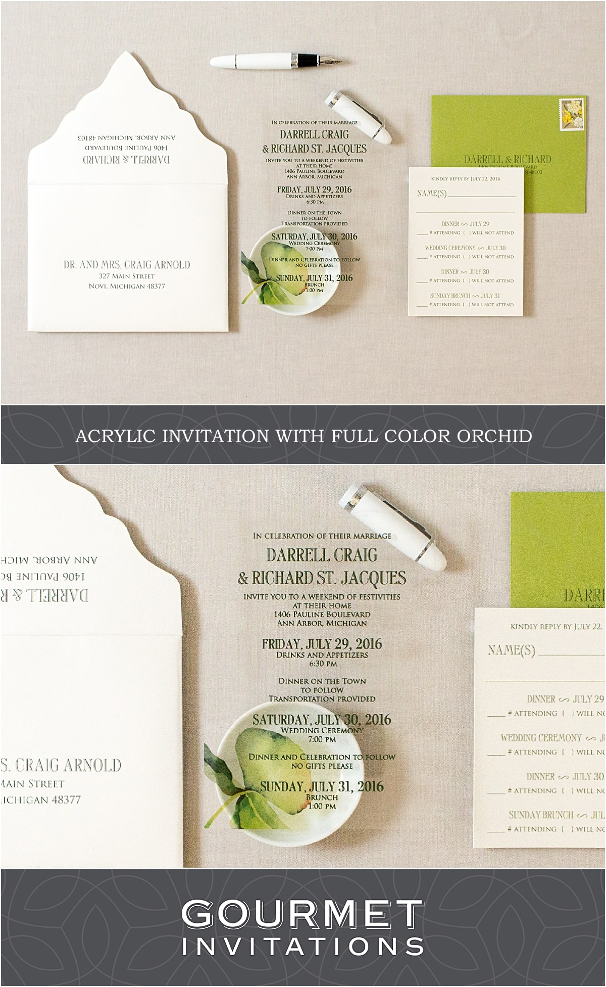 How Do You Mail Acrylic Invitations?