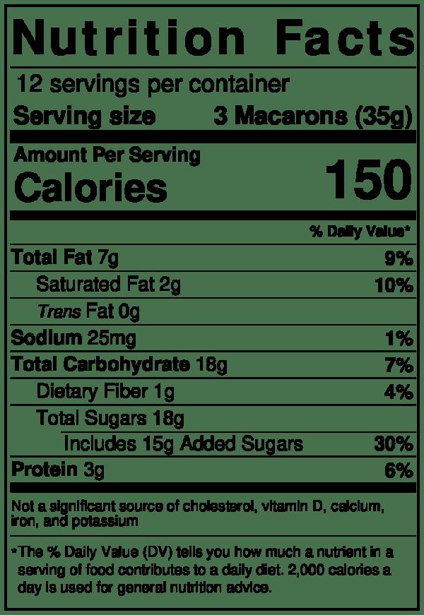 Tipiak Creme Brulee Macron Nutrition