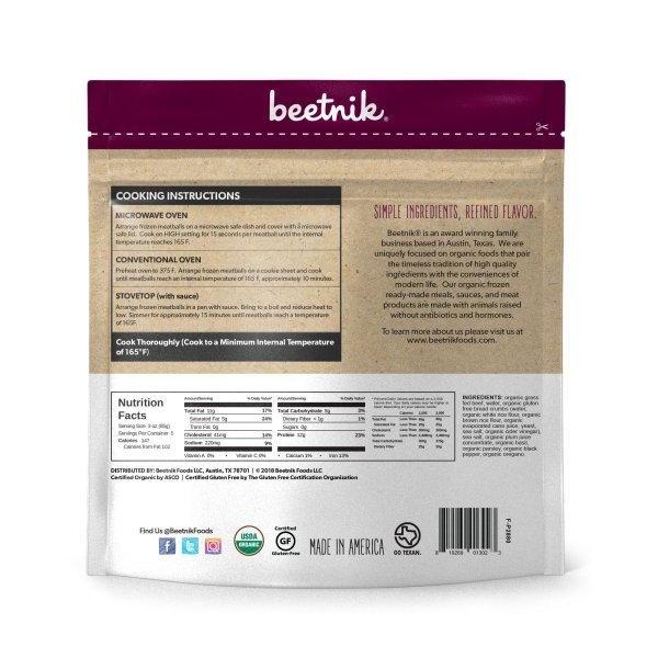 Beetnik Grass Fed Meatballs Back