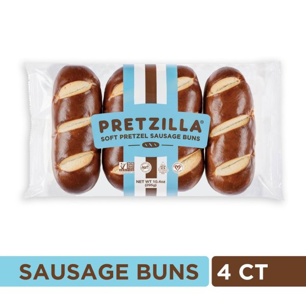 Pretzilla Packaged Sausage 4 Ct
