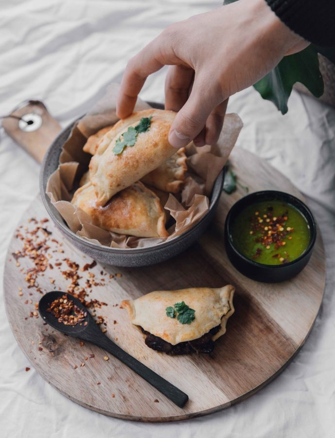 Vegetarian Empanadas with Mushroom & Cheese- Argentina