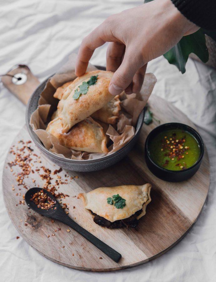 Vegetarian Empanadas with Mushroom & Cheese- Argentina