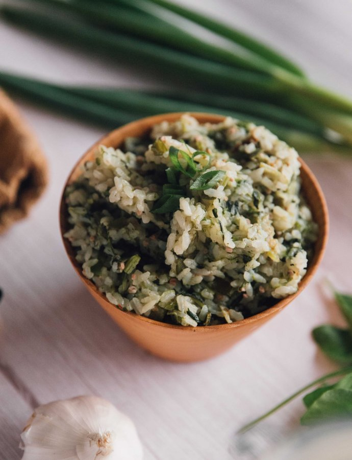 Congolese Green Rice (Riz aux Épinard)