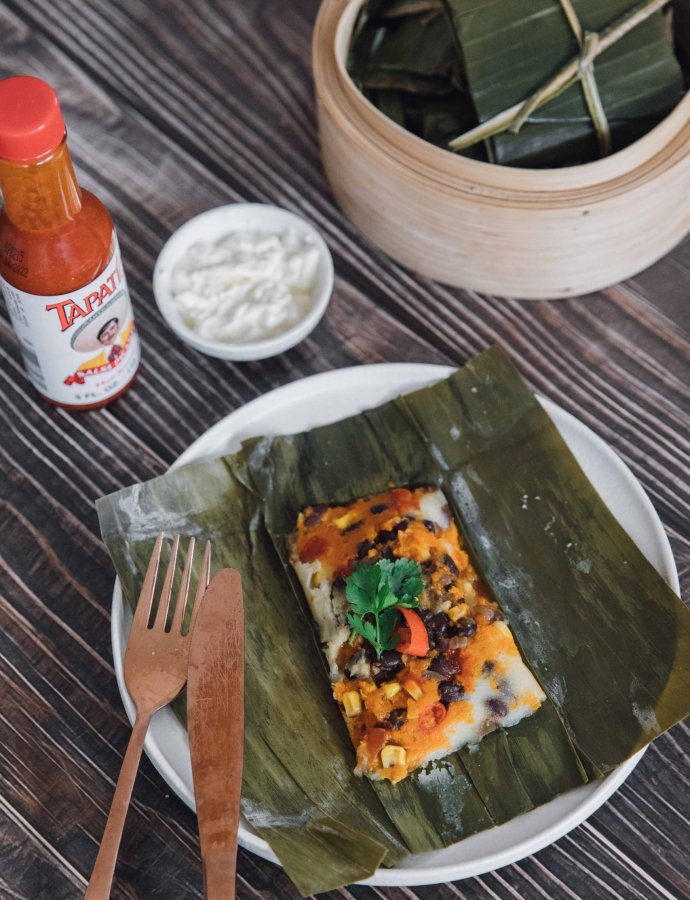 Sweet Potato and Black Bean Vegan Tamales– Costa Rica