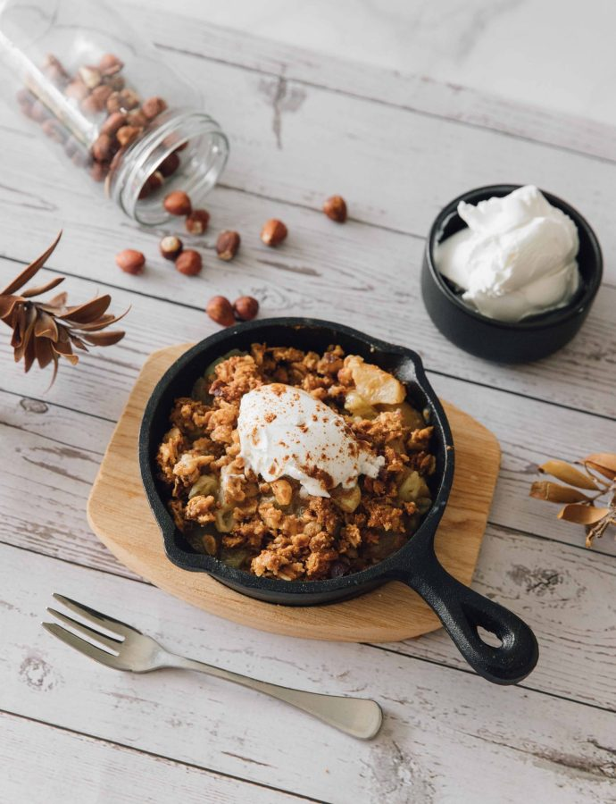 Healthy Gooseberry and Apple Crumble- England