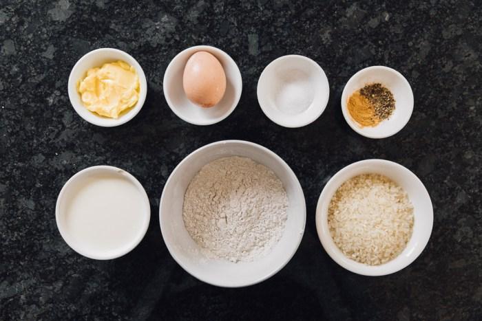 Karelian Pie with Egg Butter (Karjalanpiirakka)- ingredients