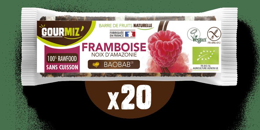 Barre Gourmiz' : framboise - noix d'amazonie baobab