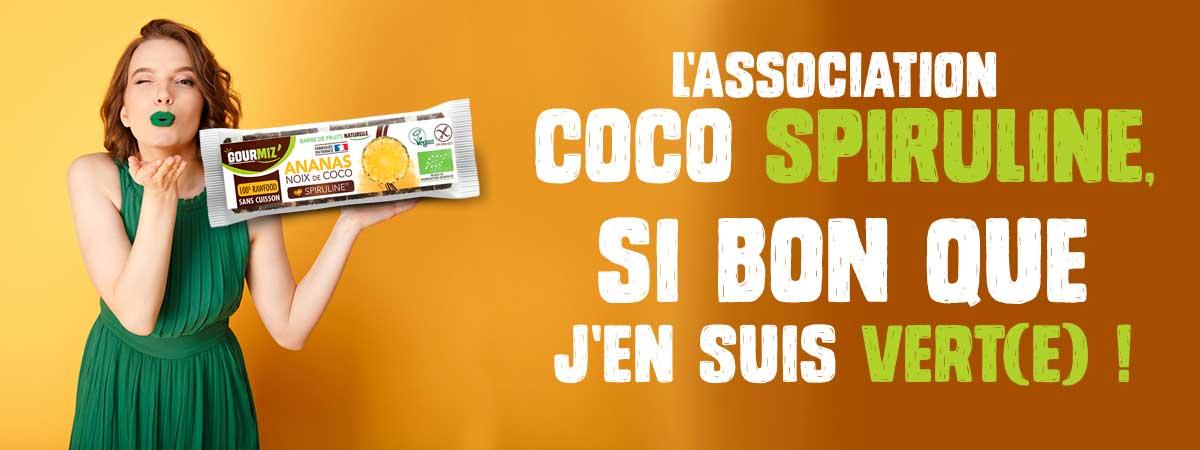 Gourmiz' : l'association coco spriuline, si bon que j'en suis verte