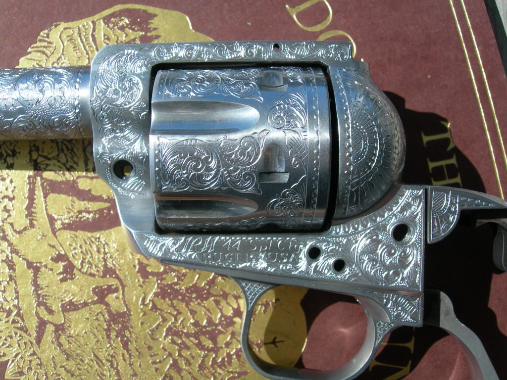 American Scroll engraving on JRH Ruger #5