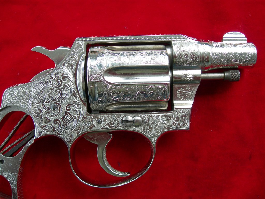 Fully engraved Colt Detective Special.