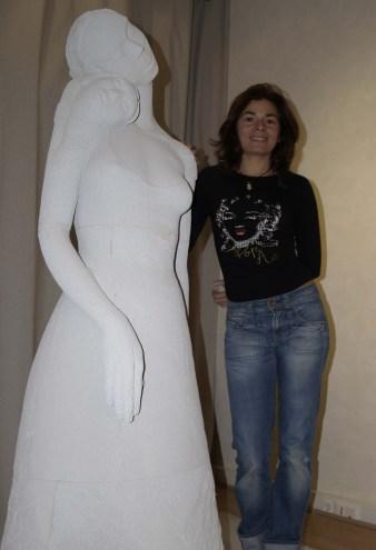 Osmose - Taille sur béton cellulaire - 175cm HPièce unique- 2004