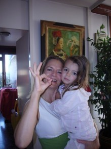 Géraldine Dunoyer et sa fille Justine