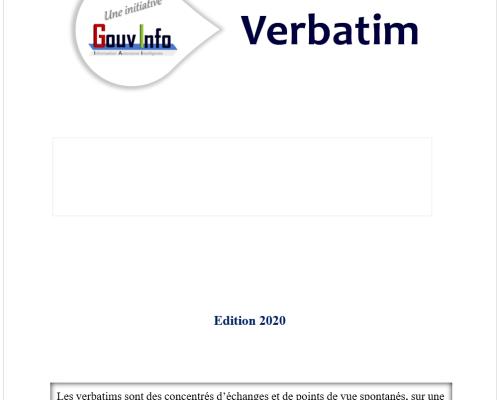 Atelier GouvInfo Verbatim – Culture de la donnée et stratégie d'entreprise (2020)