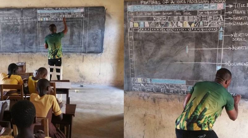 Ghana: Richard Appiah Akoto, discovered by Microsoft after using a blackboard to explain computers to his students