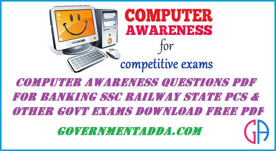 Pdf banking computer awareness