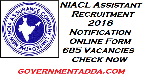 685 Assistants post vacant in NIACL