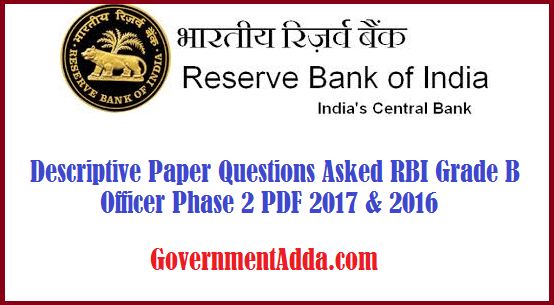 Rbi Grade B Question Paper Pdf