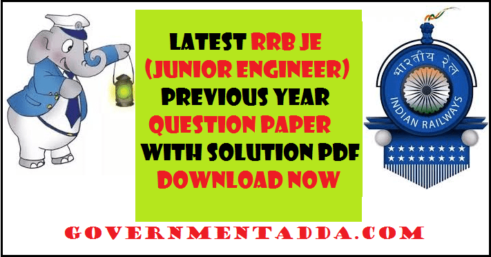 Rrb Je Mechanical Previous Question Papers Pdf