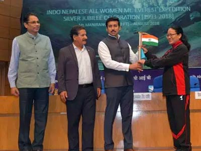 Col Rajyavardhan Rathore flags off an all-women expedition to Mt Manirang