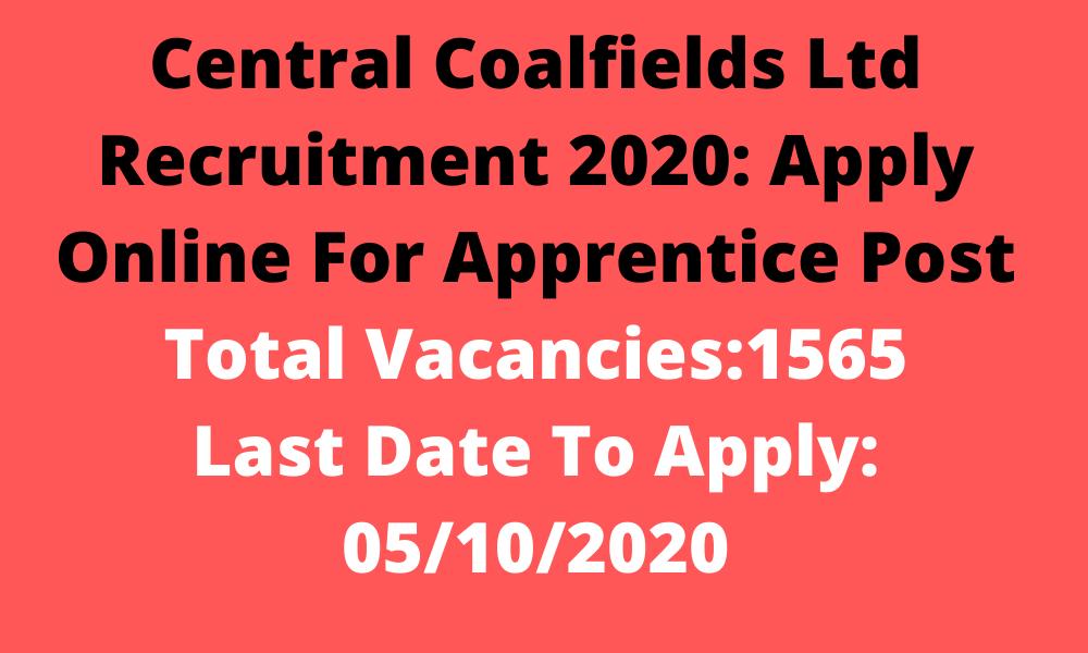 CCL Apprentice Recruitment 2020 Vacancy Details