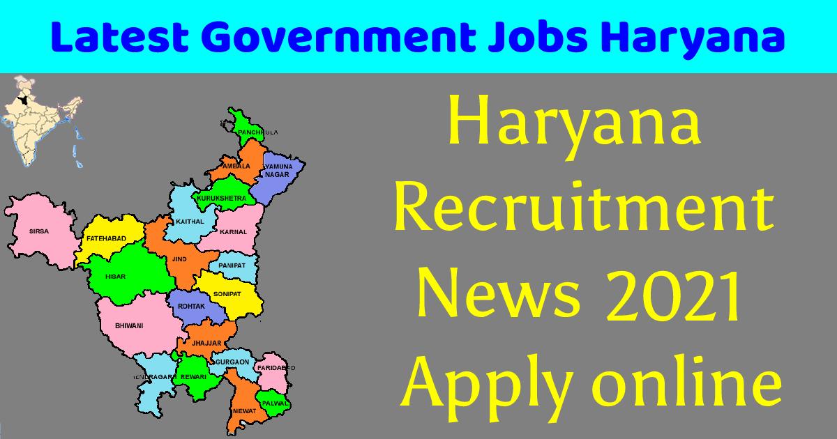 Latest Government Jobs Haryana