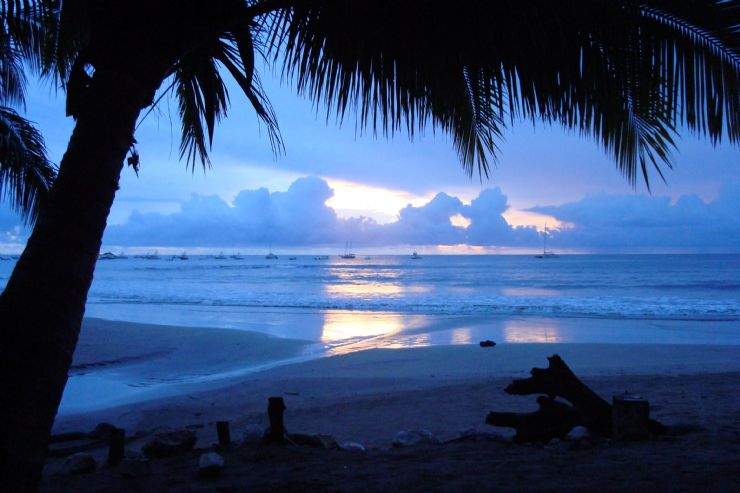 Blue Beach Sunset in Tamarindo
