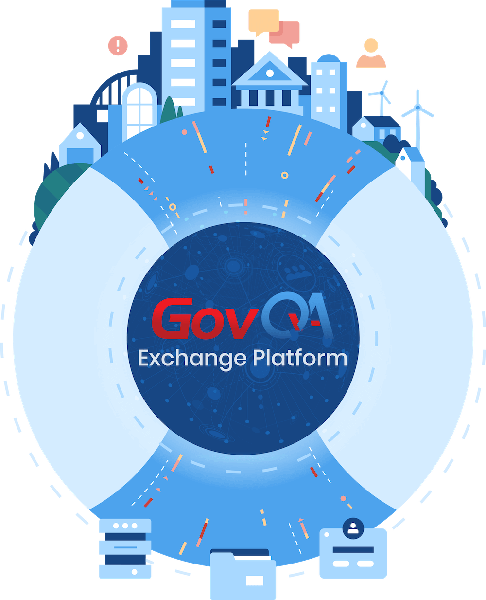 GovQA Exchange platform government workflow management animation
