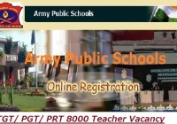 Army Public School Teacher Recruitment 2019-20